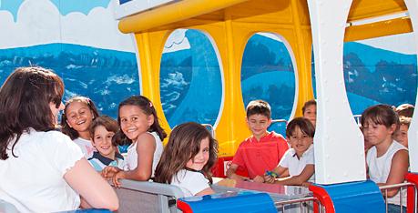 Parque Warner con niños