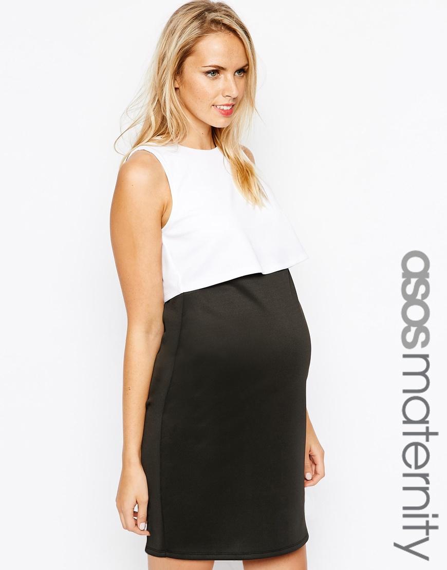 Vestidos Asos Maternity - Negro y blanco