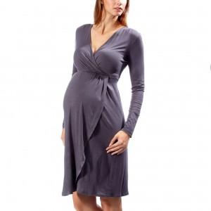 Vestido ceñido estilo batín