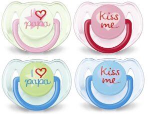 Regalos originales para bebés - Chupetes con mensajes