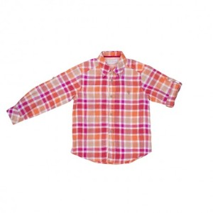 Camisa de cuadros naranja