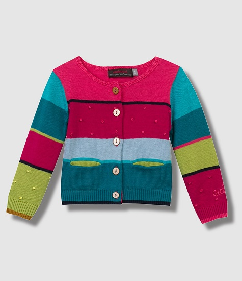 Chaqueta de colores para niñas