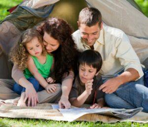 Actividades al aire libre en familia