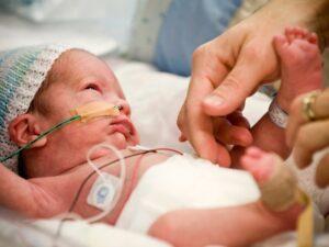 Bebé prematuro de 32 semanas