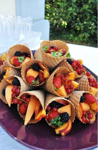Candy bar con fruta
