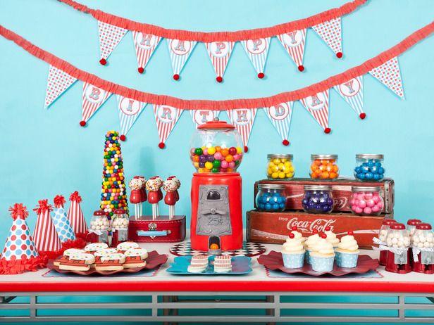 Candy bar para niños pequeños