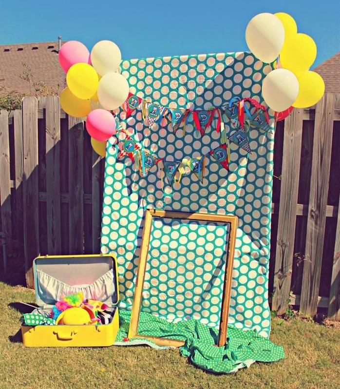 Photocall para fiestas de niños pequeños