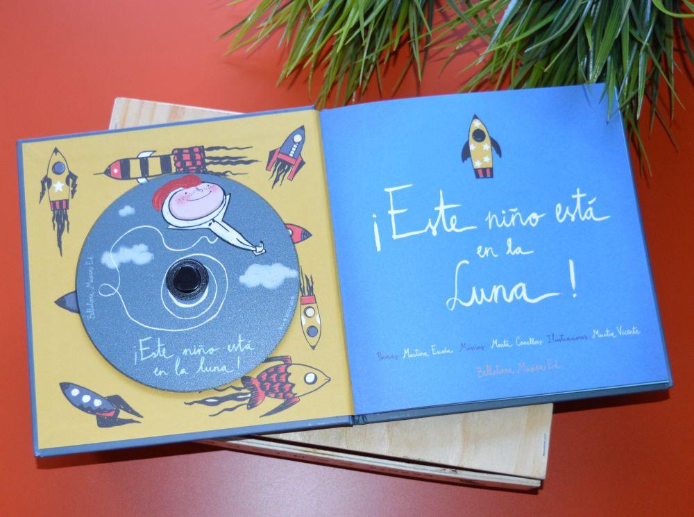 ¡Este niño está en la luna! Libro y CD de poemas infantiles