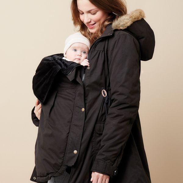 abrigo mochila portabebes