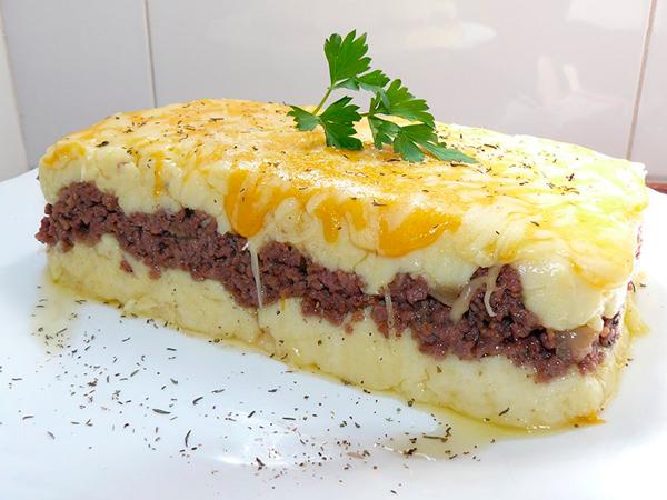 Platos con carne picada