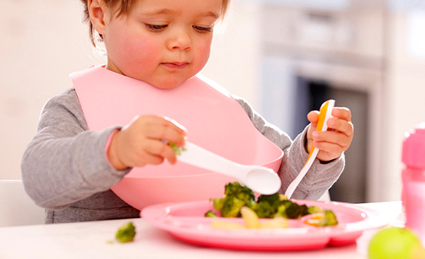 Alimentación con trocitos