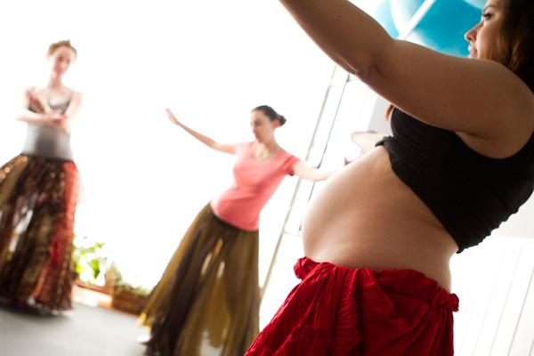 Danza del vientre durante el embarazo