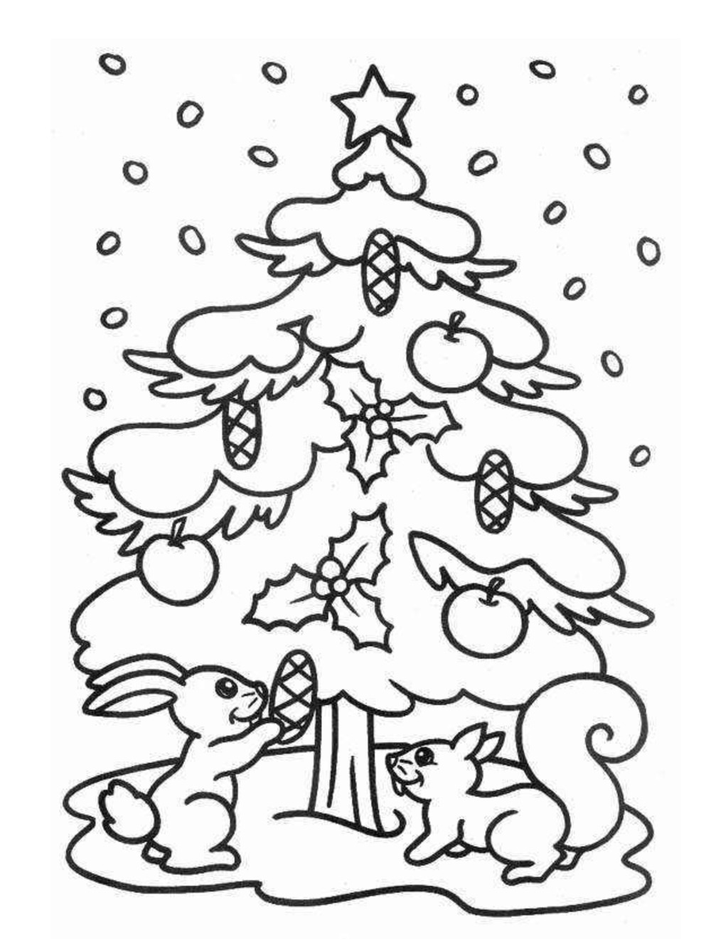 Dibujos Navideños para Colorear e Imprimir GRATIS ✿