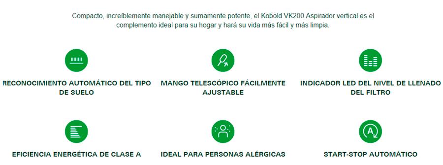 aspirador vertical Kobold características