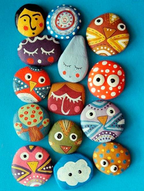 material para pintar piedras