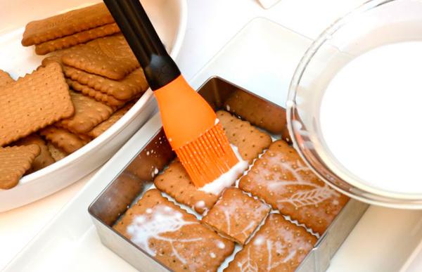 Tarta de galletas María rápida y fácil