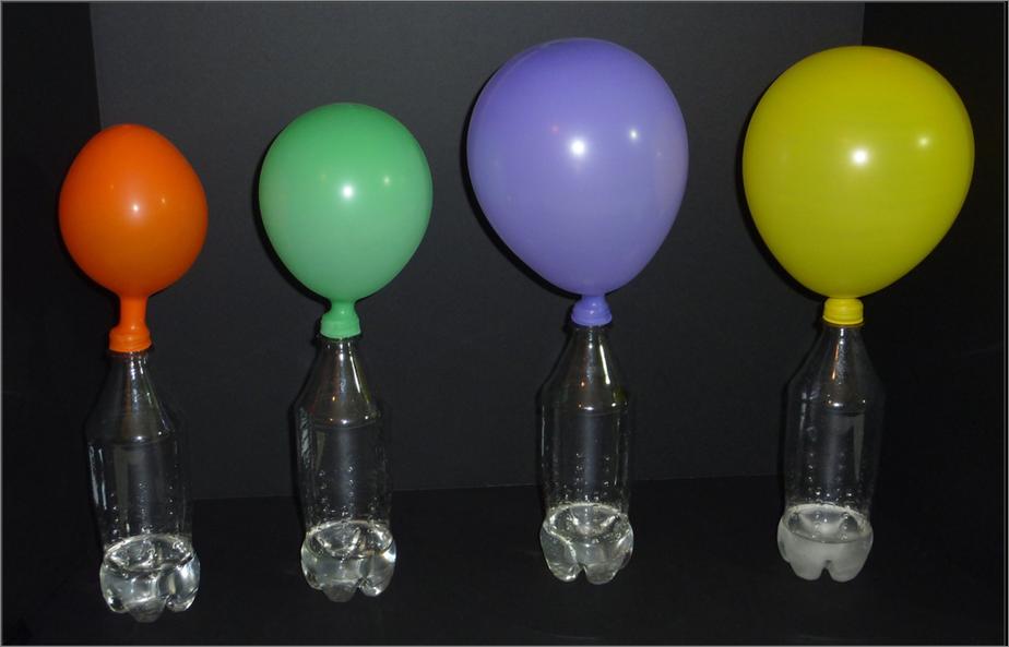 experimentos fisica con globos