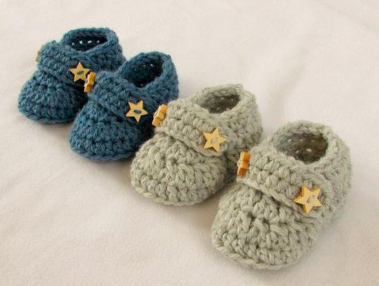 zapatillas de ganchillo hechas a mano