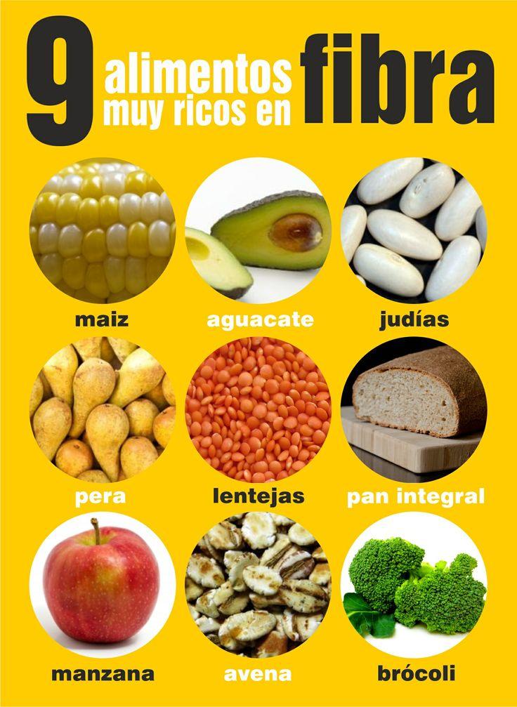 alimentos sanos con mucha fibra infografia