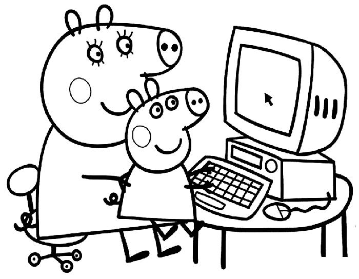 Dibujos Para Colorear Y Pintar Gratis: Dibujos De Peppa Pig Para Imprimir Y Colorear ⇒ ¡GRATIS!®