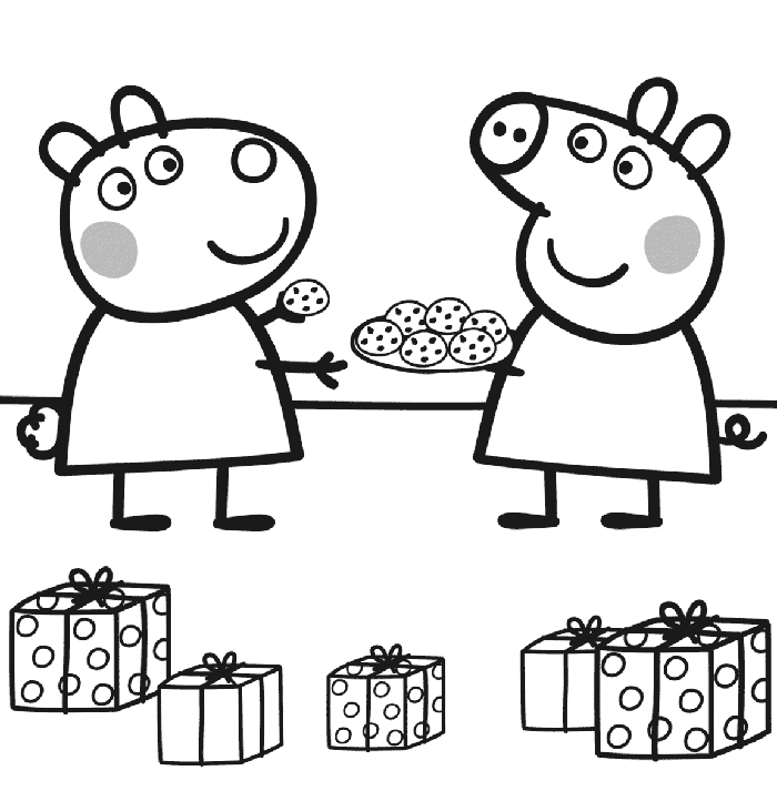 Peppa Family Muddy Puddles Coloring Page Peppa Pig Party Ideas