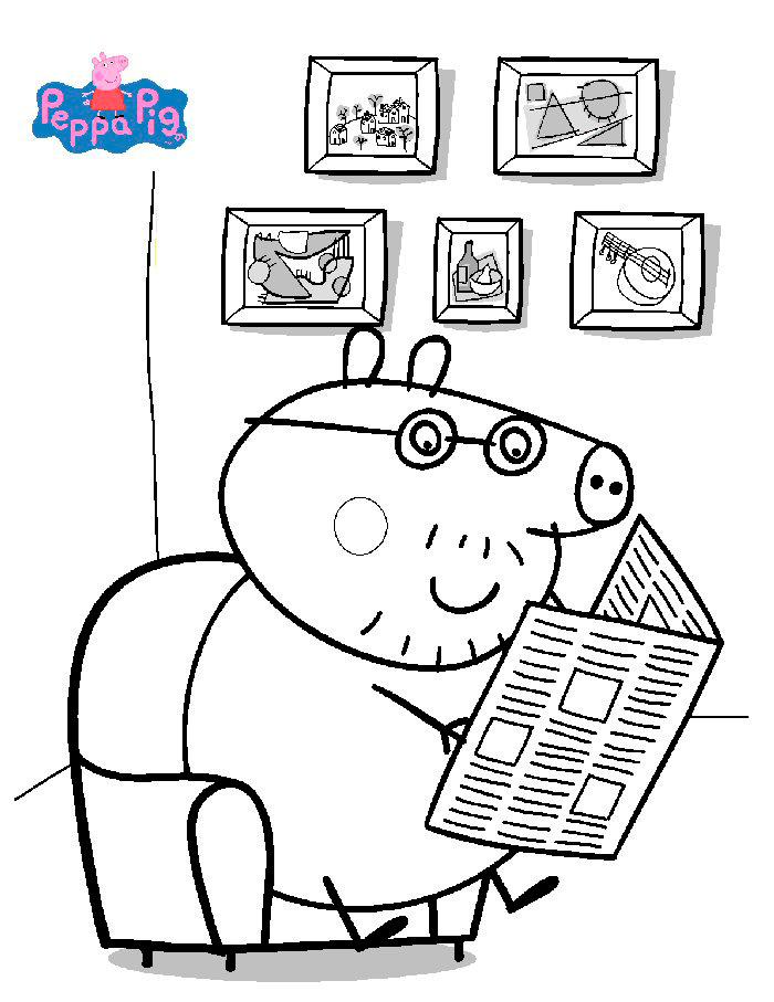 ... imprimir peppa pig dibujos de peppa pig para pintar ...
