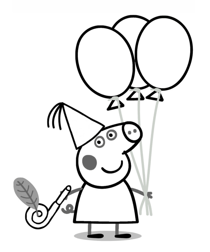 dibujos para colorear de peppa pig para imprimir