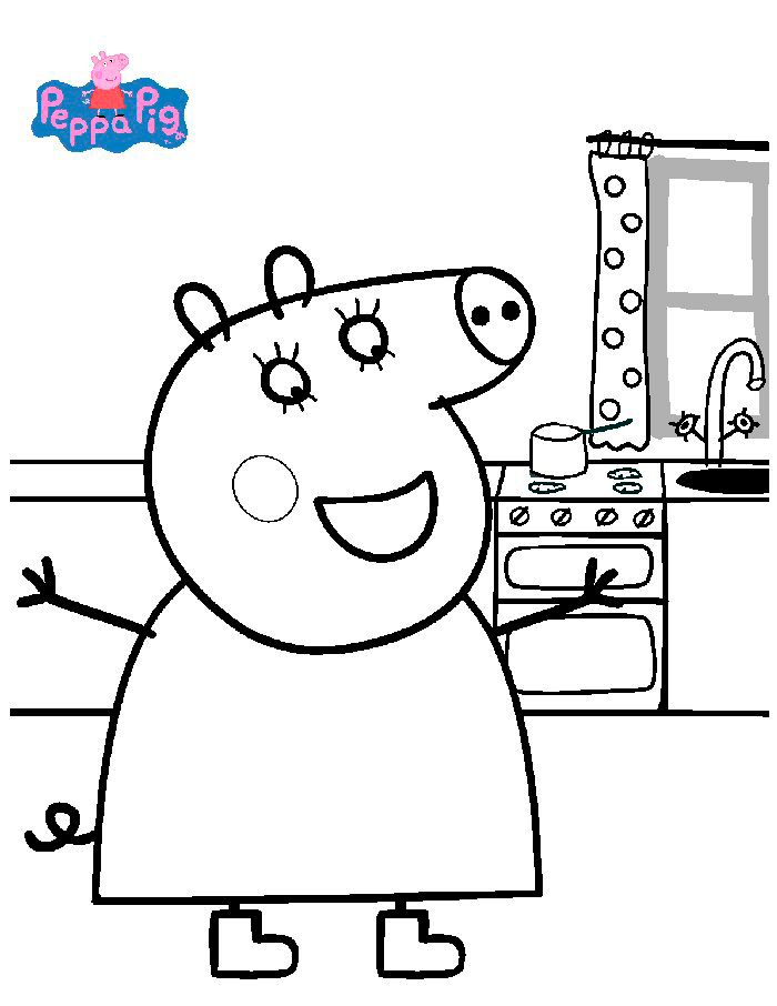 Dibujos de peppa pig para imprimir y colorear gratis for Disegnare casa online gratis