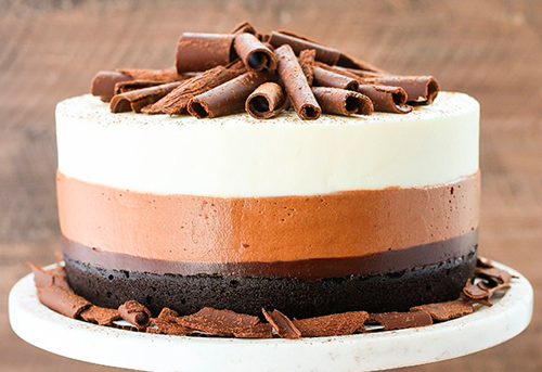 tarta tres chocolates con cuajada
