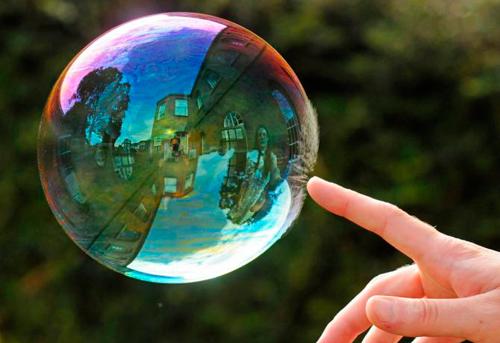 hacer burbujas de jabon