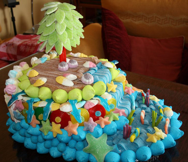 tartas diferentes con gominolas