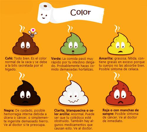 color de las heces en niños infografia