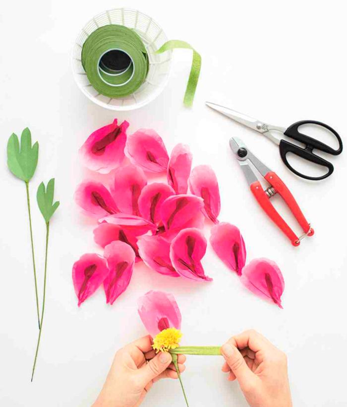 hacer flores papel