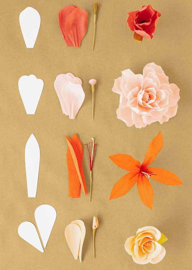rosa origami paso a paso