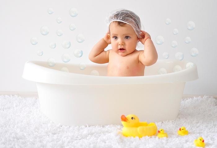 baño relajante bebé