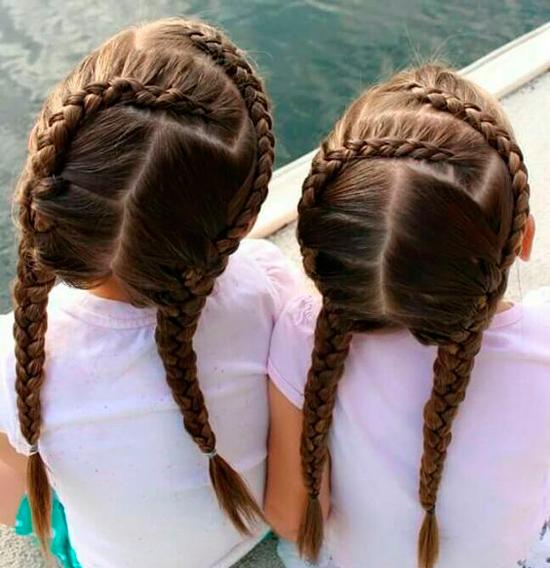peinados trenzas pelo largo