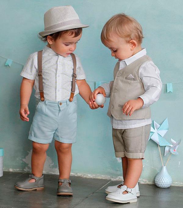traje con tirantes niños