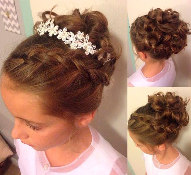 C mo hacer peinados con trenzas f ciles para ni a - Como hacer peinado para boda ...