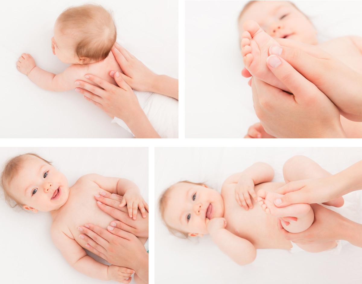 cómo hacer un masaje infantil fotos imagenes