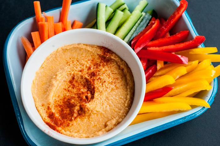 recetas de veganos hummus niños