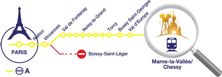 como llegar a disneyland paris en transporte publico