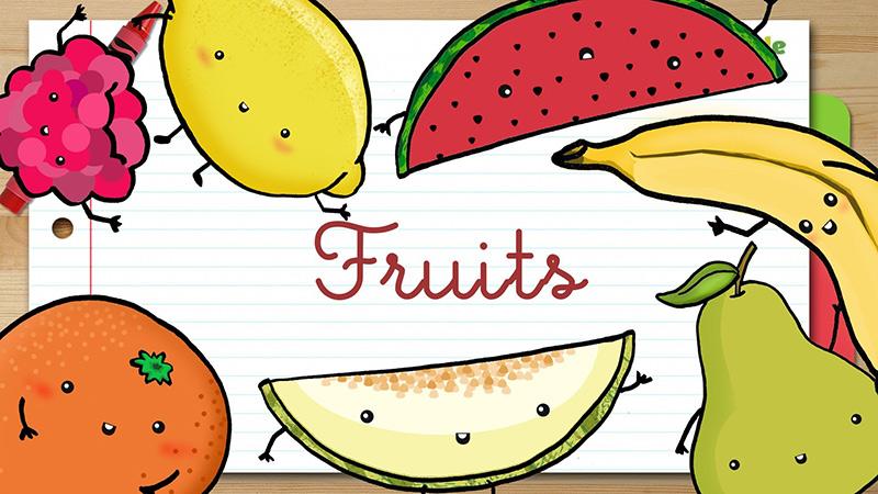 libros de ingles para niños de primaria frutas