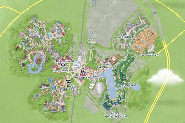 mapa disneyland paris y alrededores