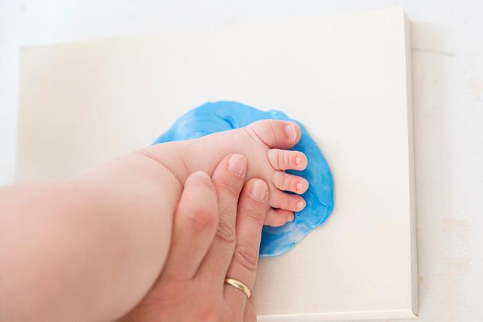 joyería para bebés proceso fijación huella