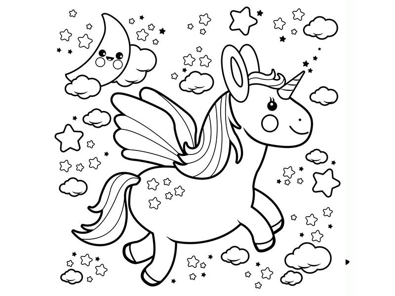 dibujos de unicornios para imprimir