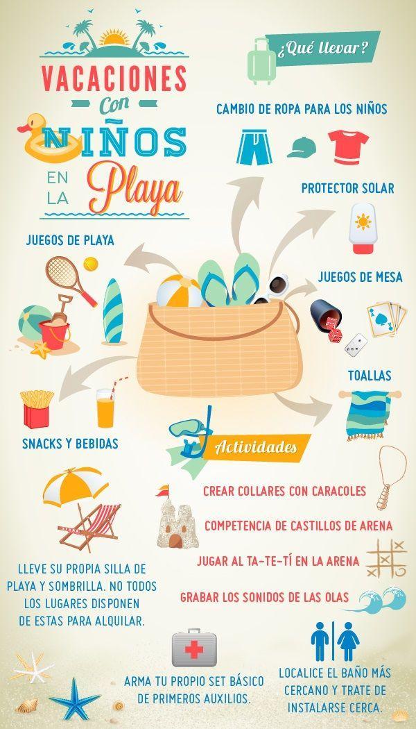 juegos de playa para niños gratis infografia