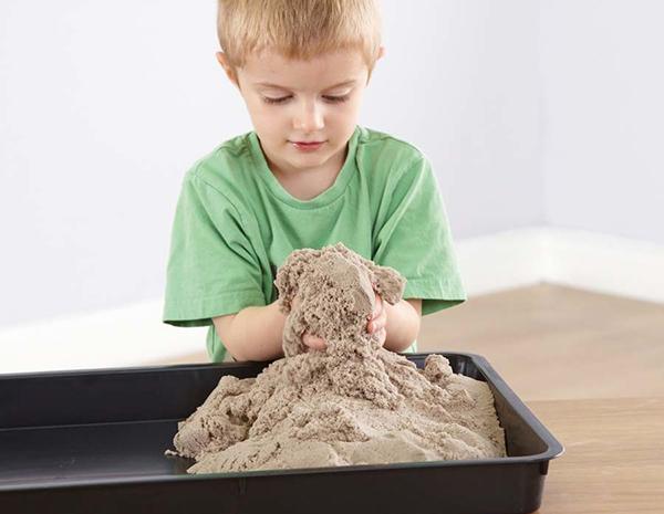 plastilina arena niños