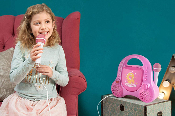 microfono con altavoz para niños