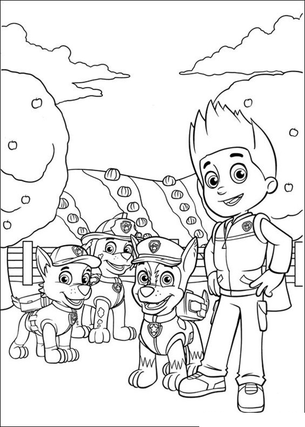 dibujos para imprimir la patrulla canina