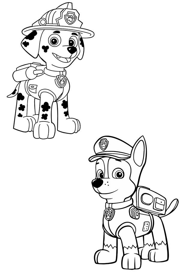 dibujos para imprimir patrulla canina